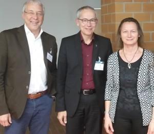 Drei der vier neugewählten Mitglieder: Michael Wedding, Prof. Dr. Bernd Lutz und Maria Holzapfel-Knoll