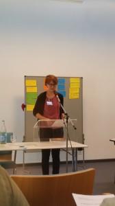 Dr. Martina Läubli bei ihrem Vortrag